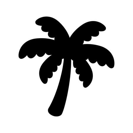 palm tree icon coconut tree vector logo symbol plant sign tropical summer beach character cartoon illustration doodle design 일러스트