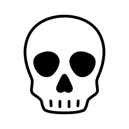 skull icon vector Halloween logo pirate symbol bone ghost head cartoon character illustration doodle design 일러스트