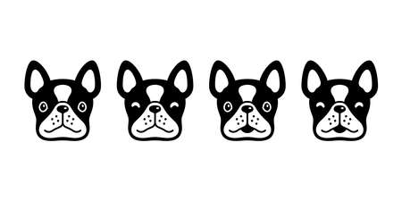 dog vector french bulldog icon face head pet puppy cartoon character symbol animal doodle illustration design