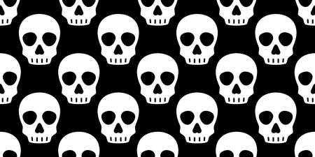 skull Halloween seamless pattern vector crossbone ghost pirate icon scarf isolated repeat wallpaper tile background cartoon doodle illustration black design 일러스트