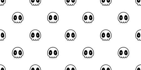 skull seamless pattern Halloween crossbones pirate vector symbol ghost scarf isolated repeat wallpaper tile background cartoon doodle illustration design 일러스트
