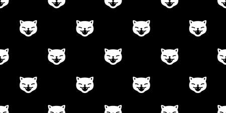 cat seamless pattern Halloween kitten vector black calico face head scarf isolated repeat wallpaper tile background cartoon character doodle illustration design