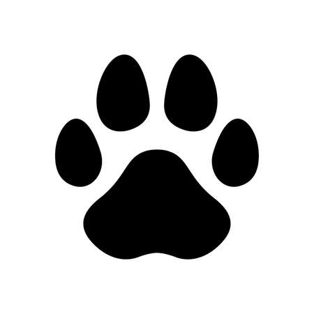 dog paw vector footprint icon french bulldog cat foot cartoon character symbol illustration doodle design Stock Illustratie