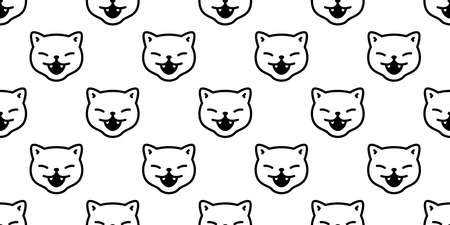 cat seamless pattern Halloween kitten vector calico face head scarf isolated repeat wallpaper tile background cartoon character doodle illustration white design Stock Illustratie