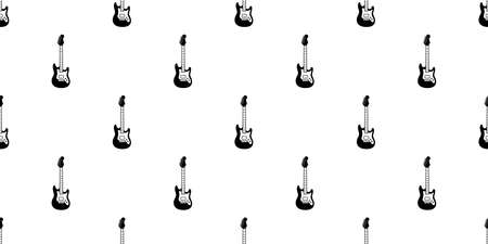 guitar seamless pattern vector electric bass ukulele icon logo symbol music scarf isolated repeat wallpaper tile background graphic cartoon illustration doodle design