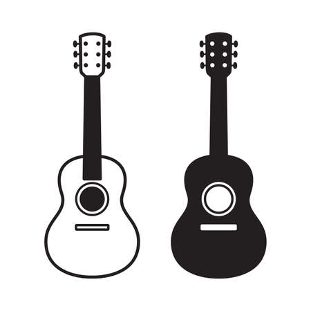 guitar vector bass ukulele icon logo symbol music cartoon character graphic illustration doodle design Stock Illustratie