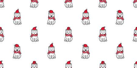 Cat with hristmas Santa  hat