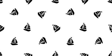 boat seamless pattern vector yacht pirate Anchor helm maritime Nautical sea ocean tile background scarf isolated repeat wallpaper doodle design Illustration