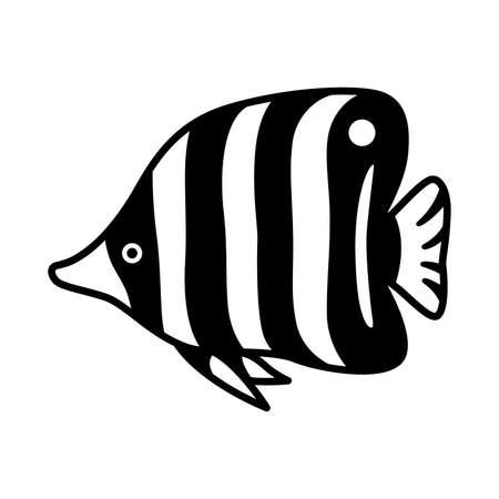 fish vector icon butterfly zebra fish salmon tuna cartoon symbol illustration design