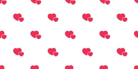 heart seamless pattern valentine vector cartoon tile background scarf isolated repeat wallpaper doodle illustration design Illustration