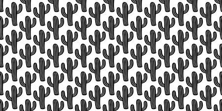 cactus seamless pattern vector Desert botanica flower plant garden cartoon tile wallpaper doodle repeat background illustration scarf isolated design Illustration