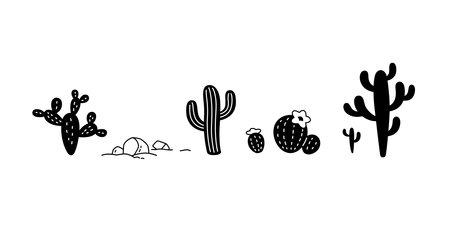 cactus vector icon Desert flower  botanica character cartoon plant garden doodle symbol illustration design Illustration