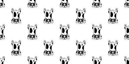 dog seamless pattern french bulldog vector carpet rug cartoon tile background repeat wallpaper scarf isolated illustration design