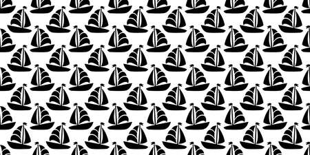 boat seamless pattern vector yacht pirate Anchor helm maritime Nautical sea ocean tile background repeat wallpaper scarf isolated doodle design