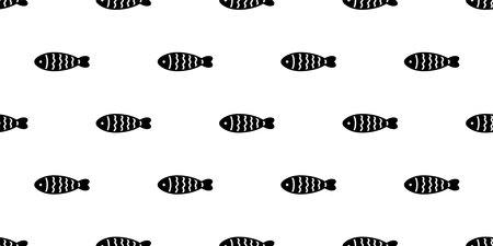 fish Seamless pattern tuna vector shark salmon dolphin doodle icon cartoon ocean sea tile background repeat wallpaper scarf isolated pet animal illustration doodle design