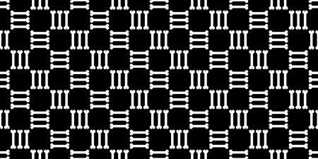 dog bone seamless pattern checked. isolated doodle illustration black design. Illustration