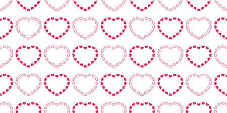 heart seamless pattern valentine vector cartoon tile background scarf isolated repeat wallpaper illustration doodle red design