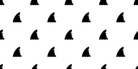 shark fin seamless pattern vector wallpaper isolated tile background animal cartoon illustration