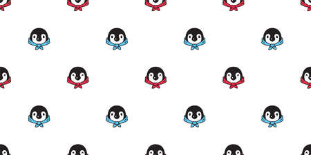 penguin Seamless pattern illustration design