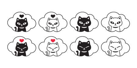 cat vector kitten heart icon illustration 일러스트