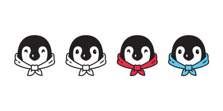 penguin head face cartoon character illustration