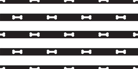 dog bone seamless pattern stripe vector footprint paw french bulldog puppy pet cartoon skeleton halloween repeat wallpaper tile background scarf isolated doodle illustration design