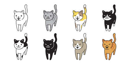 cat vector kitten calico icon pet breed cartoon character symbol illustration doodle design