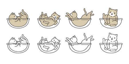 cat vector kitten calico icon pet breed cartoon character doodle symbol illustratio design