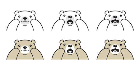 Bear vector polar bear icon logo teddy hungry cartoon character symbol doodle illustration design