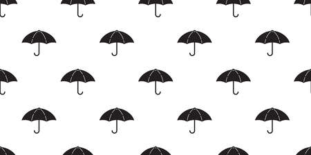 umbrella seamless pattern raining isolated cartoon tile wallpaper repeat background illustration doodle design Иллюстрация