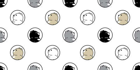 Bear seamless pattern polar bear vector cartoon breed tile wallpaper repeat background illustration design