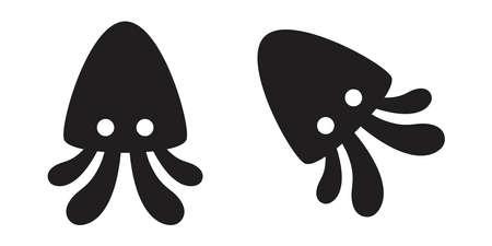 squid octopus vector icon fish logo cartoon character symbol illustration design 向量圖像