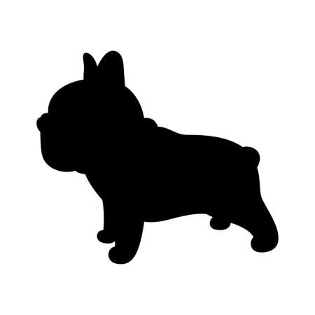 dog vector french bulldog icon puppy pet breed character cartoon paw symbol scarf doodle illustration silhouette doodle design 向量圖像
