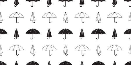 umbrella seamless pattern rain isolated cartoon tile wallpaper repeat background doodle illustration white black design