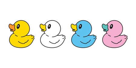 duck vector icon rubber duck logo bathroom shower bird chicken cartoon character symbol doodle illustration design 向量圖像