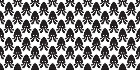 squid Seamless pattern octopus fish vector salmon tuna shark dolphin doodle icon cartoon ocean sea pet animal repeat wallpaper tile background scarf isolated illustration doodle design