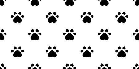 dog paw seamless pattern heart footprint valentine cat bear vector french bulldog cartoon scarf tile background repeat wallpaper doodle illustration design