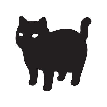 cat vector kitten icon logo calico pet breed character cartoon doodle symbol illustration black design