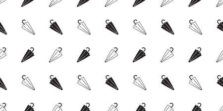 umbrella seamless pattern rain isolated cartoon tile wallpaper repeat background doodle illustration design 向量圖像