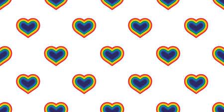 heart seamless pattern LGBT vector valentine rainbow Pride cartoon doodle scarf isolated tile background repeat wallpaper illustration design 向量圖像