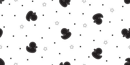 duck seamless pattern rubber duck bathroom shower star toy bird chicken vector pet scarf isolated cartoon animal tile wallpaper repeat background doodle illustration design 向量圖像