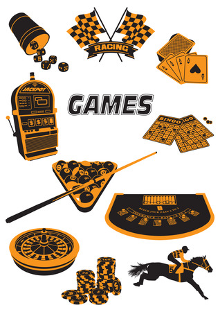 A two-tone silhouette about games