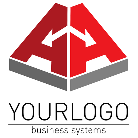 intention: Business, elegant logo vector render Illustration