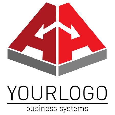 intentie: Business, elegante logo vector weer geven