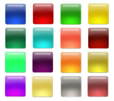 aquabutton: Set of Web blank gell or aqua buttons