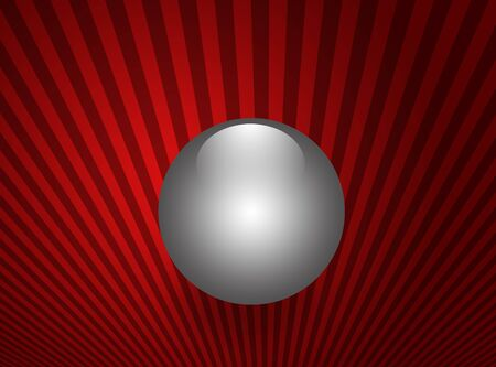 shinning: Shinning sphere on soft, red background