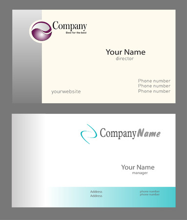 the information card: Two business cards projects, vector file - editable