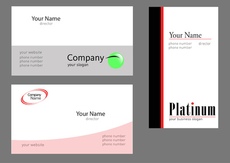 Colections of three business cards projects, vector file - editable
