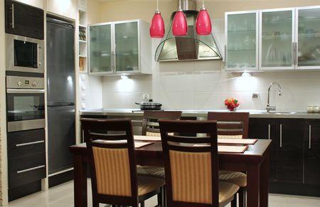 highend: Bella cucina moderna di lusso  Archivio Fotografico