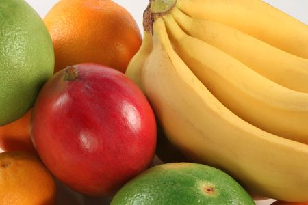 Fresh colorful fruits composition photo